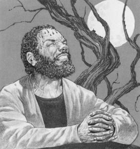 Hematodrotic Jesus in the Garden (by Fred Carter)
