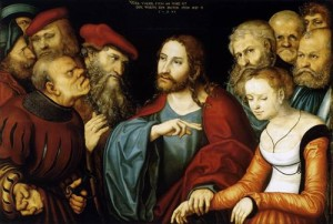 Jesus Christ and the Adulteress, by Lucas Cranach the Elder (1532)