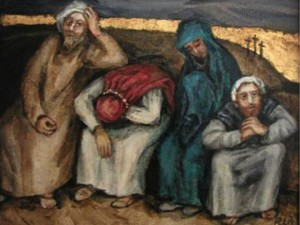 Jesus' distraught disciples
