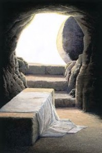 inside view of empty tomb