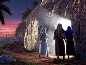 women discovering the empty tomb