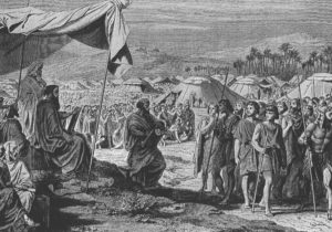 The Numbering of the Israelites (Num. 1), engraving by Henri Félix Emmanuel Philippoteaux (1815–1884)
